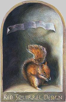 Red Squirrel Design - Boston Decorative Painters .:. on hedgehog home, chipmunk home, duck home, santa home, frog home, monkey home, hummingbird home, horse home, bear home, tree stump home, rat home, turkey home, bee home, flowers home, turtle home, snow home,